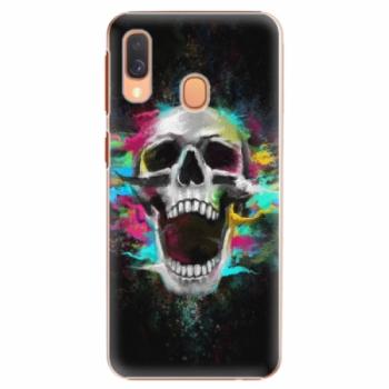 Plastové pouzdro iSaprio - Skull in Colors - Samsung Galaxy A40
