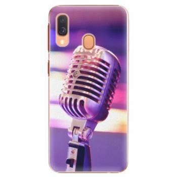Plastové pouzdro iSaprio - Vintage Microphone - Samsung Galaxy A40