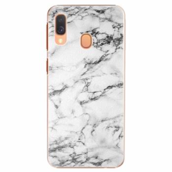 Plastové pouzdro iSaprio - White Marble 01 - Samsung Galaxy A40