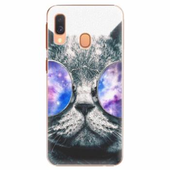 Plastové pouzdro iSaprio - Galaxy Cat - Samsung Galaxy A40