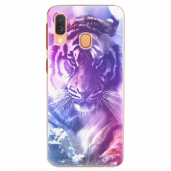 Plastové pouzdro iSaprio - Purple Tiger - Samsung Galaxy A40