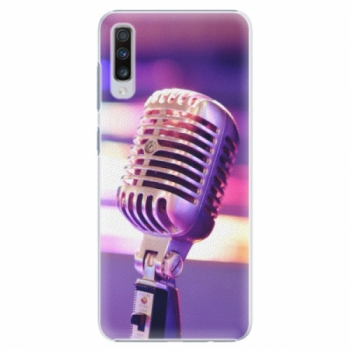 Plastové pouzdro iSaprio - Vintage Microphone - Samsung Galaxy A70