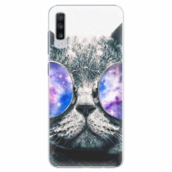 Plastové pouzdro iSaprio - Galaxy Cat - Samsung Galaxy A70