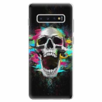 Plastové pouzdro iSaprio - Skull in Colors - Samsung Galaxy S10+