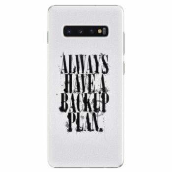 Plastové pouzdro iSaprio - Backup Plan - Samsung Galaxy S10+