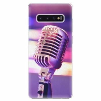 Plastové pouzdro iSaprio - Vintage Microphone - Samsung Galaxy S10+