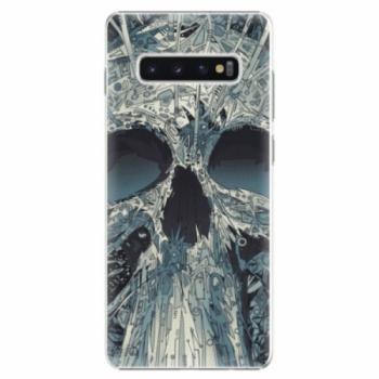 Plastové pouzdro iSaprio - Abstract Skull - Samsung Galaxy S10+