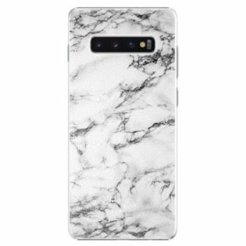 Plastové pouzdro iSaprio - White Marble 01 - Samsung Galaxy S10+