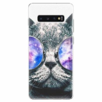 Plastové pouzdro iSaprio - Galaxy Cat - Samsung Galaxy S10+