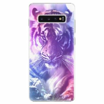 Plastové pouzdro iSaprio - Purple Tiger - Samsung Galaxy S10+