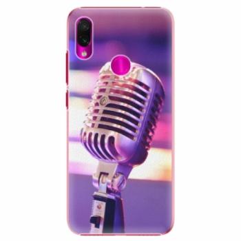 Plastové pouzdro iSaprio - Vintage Microphone - Xiaomi Redmi Note 7