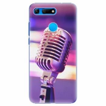 Plastové pouzdro iSaprio - Vintage Microphone - Huawei Honor View 20