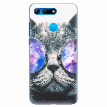 Plastové pouzdro iSaprio - Galaxy Cat - Huawei Honor View 20