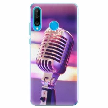 Plastové pouzdro iSaprio - Vintage Microphone - Huawei P30 Lite