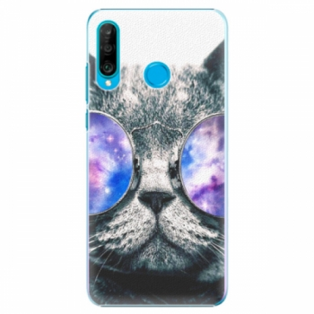 Plastové pouzdro iSaprio - Galaxy Cat - Huawei P30 Lite