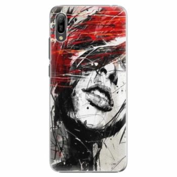 Plastové pouzdro iSaprio - Sketch Face - Huawei Y6 2019