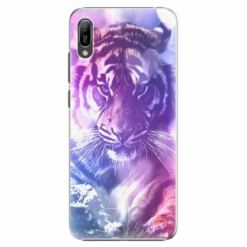 Plastové pouzdro iSaprio - Purple Tiger - Huawei Y6 2019