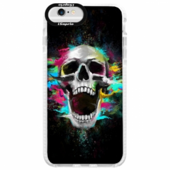 Silikonové pouzdro Bumper iSaprio - Skull in Colors - iPhone 6/6S