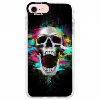 Silikonové pouzdro Bumper iSaprio - Skull in Colors - iPhone 7
