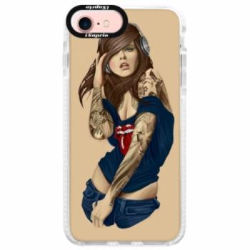 Silikonové pouzdro Bumper iSaprio - Girl 03 - iPhone 7