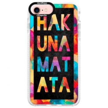Silikonové pouzdro Bumper iSaprio - Hakuna Matata 01 - iPhone 7