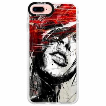 Silikonové pouzdro Bumper iSaprio - Sketch Face - iPhone 7 Plus