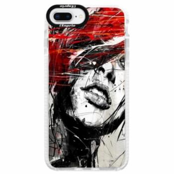 Silikonové pouzdro Bumper iSaprio - Sketch Face - iPhone 8 Plus