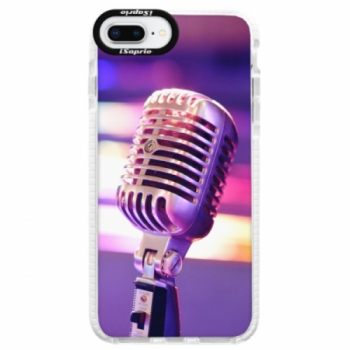 Silikonové pouzdro Bumper iSaprio - Vintage Microphone - iPhone 8 Plus