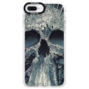 Silikonové pouzdro Bumper iSaprio - Abstract Skull - iPhone 8 Plus