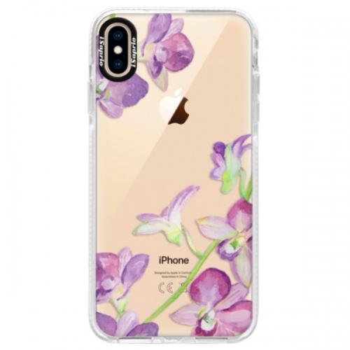 Silikonové pouzdro Bumper iSaprio - Purple Orchid - iPhone XS Max