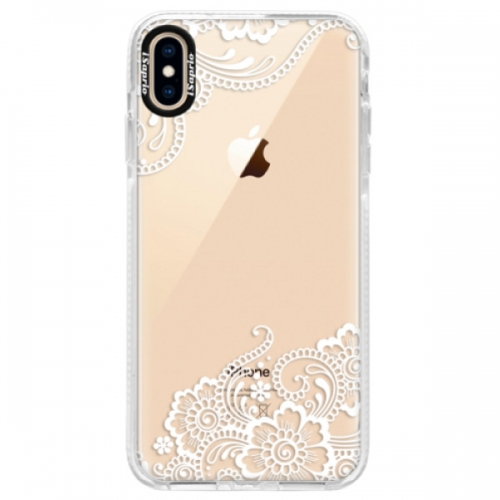 Silikonové pouzdro Bumper iSaprio - White Lace 02 - iPhone XS Max