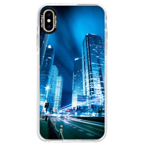 Silikonové pouzdro Bumper iSaprio - Night City Blue - iPhone XS Max