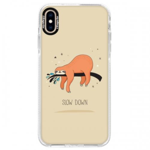 Silikonové pouzdro Bumper iSaprio - Slow Down - iPhone XS Max