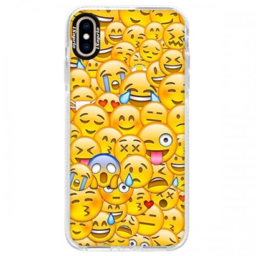 Silikonové pouzdro Bumper iSaprio - Emoji - iPhone XS Max