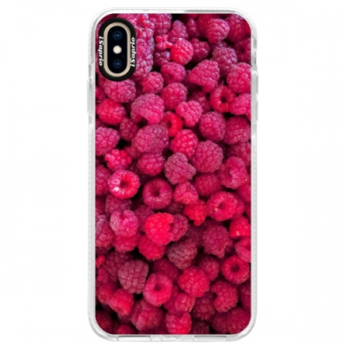 Silikonové pouzdro Bumper iSaprio - Raspberry - iPhone XS Max