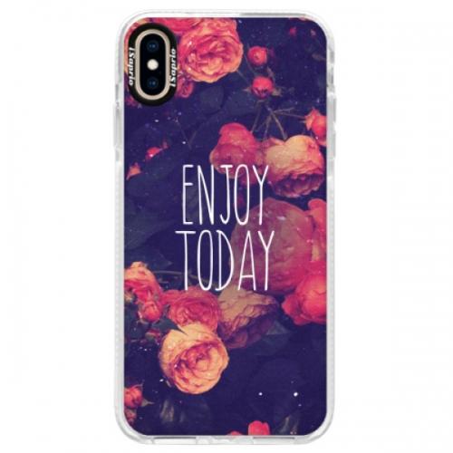 Silikonové pouzdro Bumper iSaprio - Enjoy Today - iPhone XS Max