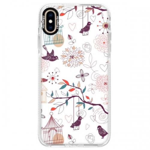 Silikonové pouzdro Bumper iSaprio - Birds - iPhone XS Max