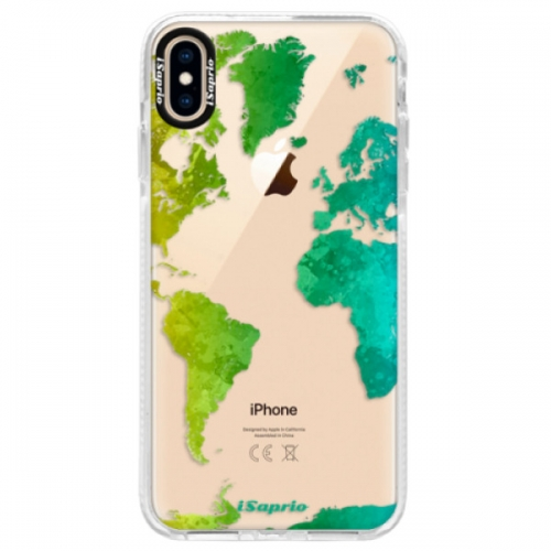 Silikonové pouzdro Bumper iSaprio - Cold Map - iPhone XS Max