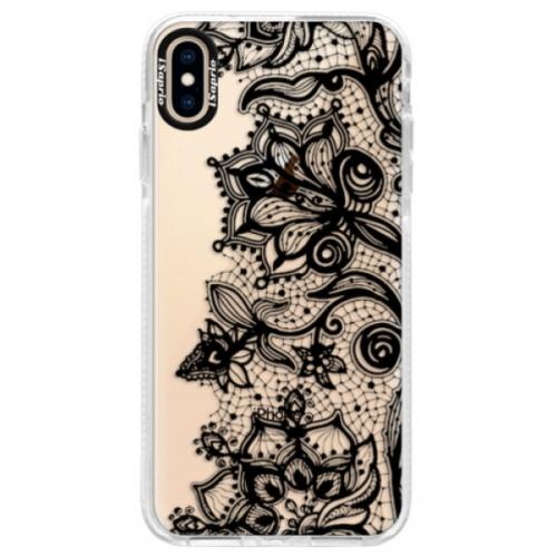 Silikonové pouzdro Bumper iSaprio - Black Lace - iPhone XS Max
