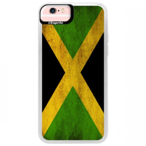 Neonové pouzdro Pink iSaprio - Flag of Jamaica - iPhone 6/6S