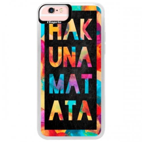 Neonové pouzdro Pink iSaprio - Hakuna Matata 01 - iPhone 6/6S