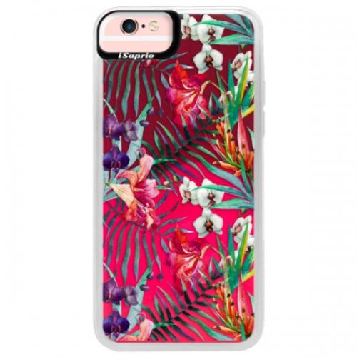 Neonové pouzdro Pink iSaprio - Flower Pattern 03 - iPhone 6/6S