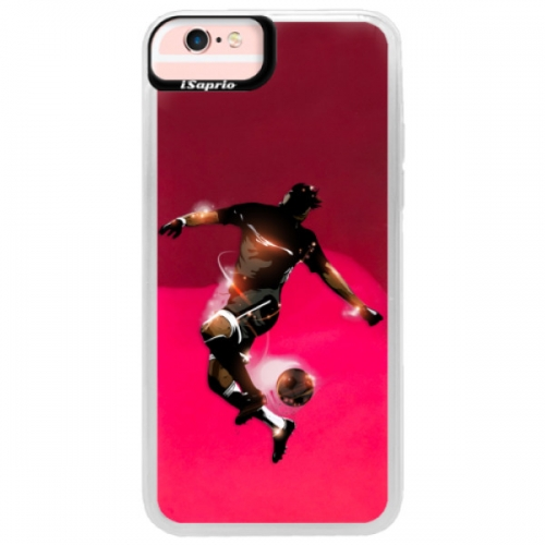 Neonové pouzdro Pink iSaprio - Fotball 01 - iPhone 6/6S