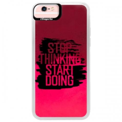 Neonové pouzdro Pink iSaprio - Start Doing - black - iPhone 6/6S