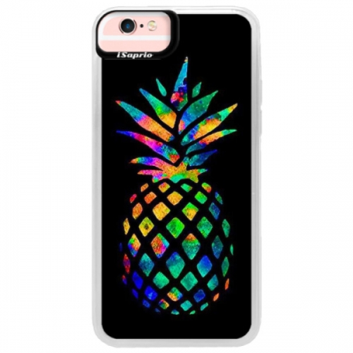 Neonové pouzdro Pink iSaprio - Rainbow Pineapple - iPhone 6/6S