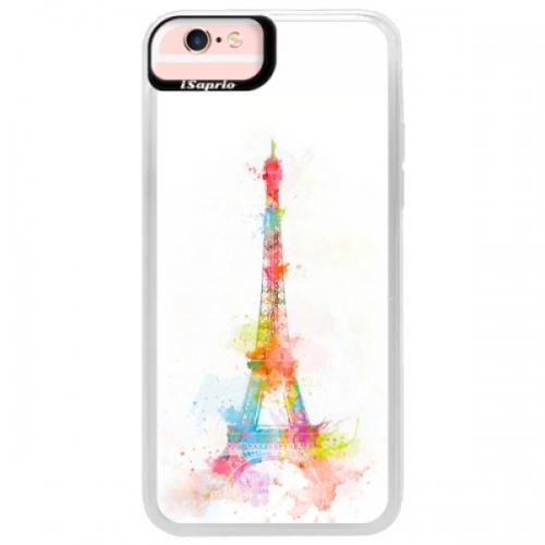 Neonové pouzdro Pink iSaprio - Eiffel Tower - iPhone 6/6S