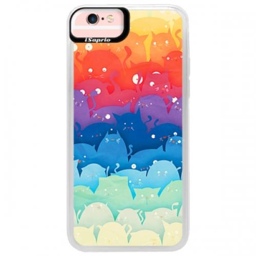 Neonové pouzdro Pink iSaprio - Cats World - iPhone 6/6S