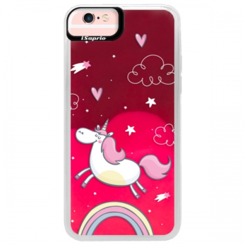 Neonové pouzdro Pink iSaprio - Unicorn 01 - iPhone 6/6S
