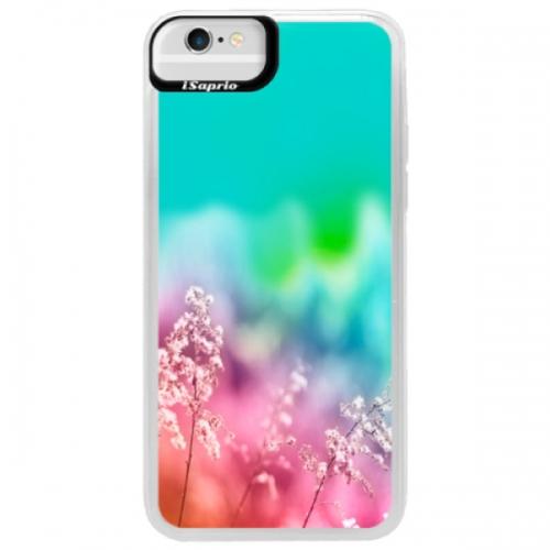Neonové pouzdro Blue iSaprio - Rainbow Grass - iPhone 6/6S