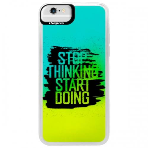 Neonové pouzdro Blue iSaprio - Start Doing - black - iPhone 6/6S